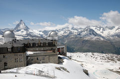Gornergrat-Seilbahnstation Stockbilder