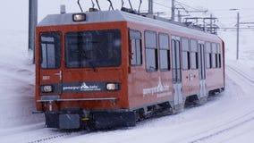 Gornergrat Snow Train Royalty Free Stock Photography