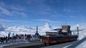 Gornergrat bahn, Zermatt, Matterhorn stock image