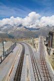 Gornergrat station Arkivfoto
