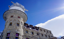 Gornergrat station and building Royalty Free Stock Images