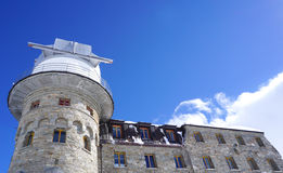 Gornergrat station and building and sky blue Royalty Free Stock Photo