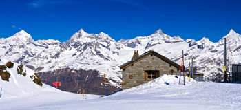 Gornergrat Train Station, Matternhorn Stock Photos