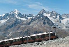 Gornergrat Train on steep slope stock images