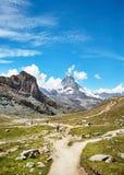 Gornergrat Zermatt, die Schweiz, Matterhorn Lizenzfreie Stockfotos