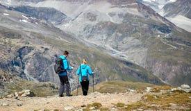 Gornergrat Zermatt, die Schweiz, Schweizer Alpen Lizenzfreies Stockbild