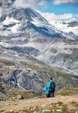 Gornergrat Zermatt, die Schweiz, Schweizer Alpen Stockbild