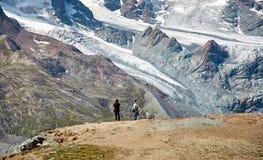 Gornergrat Zermatt, die Schweiz, Schweizer Alpen Stockbilder