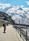 Gornergrat Zermatt, die Schweiz, Schweizer Alpen Lizenzfreies Stockfoto