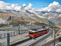Gornergrat Zermatt, Suisse, Alpes suisses Images stock