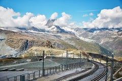 Gornergrat Zermatt, Svizzera, alpi svizzere Immagine Stock