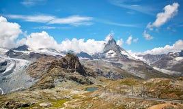 Gornergrat Zermatt, Svizzera, il Cervino Immagini Stock