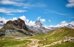 Gornergrat Zermatt, Svizzera, il Cervino Fotografie Stock Libere da Diritti