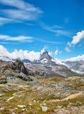 Gornergrat Zermatt, Svizzera, il Cervino Immagine Stock Libera da Diritti