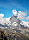 Gornergrat Zermatt, Svizzera, il Cervino Fotografia Stock Libera da Diritti