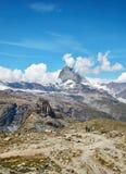 Gornergrat Zermatt, Zwitserland, Matterhorn Stock Foto