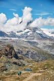 Gornergrat Zermatt, Zwitserland, Zwitserse Alpen Stock Afbeeldingen