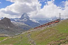 Swiss railway. Royalty Free Stock Photo
