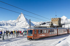 Gornergratbahn Zermatt Στοκ φωτογραφία με δικαίωμα ελεύθερης χρήσης