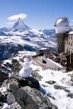 Gornergratgezichtspunt, Zermatt, Zwitserland Stock Foto