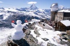 Gornergratgezichtspunt, Zermatt, Zwitserland Stock Afbeelding