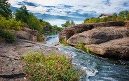 Gornij Tikich river with rapids in Buki village Stock Photo