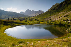 Gornje naakt meer, het nationale park van Sutjeska, Zelengora-berg Stock Afbeelding