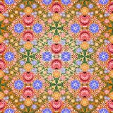 Gorodets painting background seamless pattern. Floral background seamless pattern. Gorodets painting. Russian traditional folk art. Vector illustration 10 EPS Royalty Free Stock Images