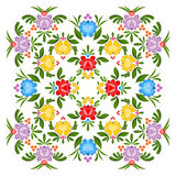 Gorodets painting pattern. Floral ornament. Russian national folk craft. Traditional culture painting in Russia. Retro ethnic decor rose and berry Stock Photography