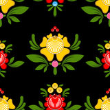 Gorodets painting seamless pattern. Floral ornament. Russian nat. Ional folk craft. Traditional decoration painting in Russia. Flowers and leaves texture. Retro Royalty Free Stock Photo