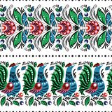 Gorodets painting seamless. Gorodets traditional painting. Seamless pattern with flowers and birds Royalty Free Stock Images