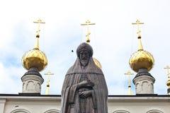 Gorodets Rosja 5 Oktober 2018 Zabytek książe Aleksander Nevsky w jego miejscu śmierć, w Feodorovsky monasterze w Gorodets- zdjęcia stock