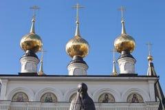 Gorodets Rosja 5 Oktober 2018 Zabytek książe Aleksander Nevsky w jego miejscu śmierć, w Feodorovsky monasterze w Gorodets- zdjęcie stock