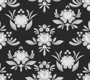 Gorodets seamless pattern. Floral ornament. Russian national fol. K craft. Traditional decoration painting in Russia. Flowers and leaves texture. Retro ethnic Stock Image