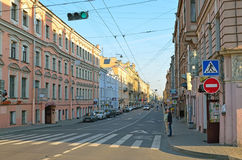 Gorokhovaya Street in St Petersburg, Russia Royalty Free Stock Photos