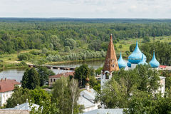Gorokhovets, região de Vladimir Vista da montanha de Puzhalova Imagens de Stock Royalty Free