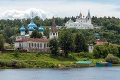 Gorokhovets, região de Vladimir Vista de Puzhalova a montanha para Fotos de Stock