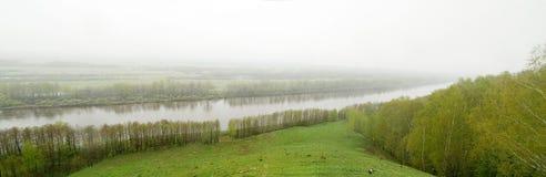Gorokhovets, Rivier Klyazma Stock Afbeeldingen