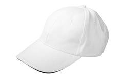 Gorra de béisbol blanca Fotografía de archivo