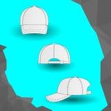 Gorra de béisbol blanca Imagen de archivo libre de regalías