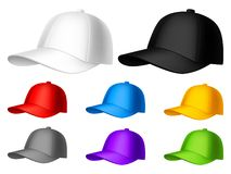Gorra de béisbol del color foto de archivo