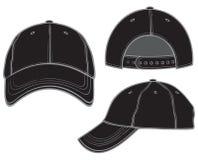 Gorra de béisbol negra Imágenes de archivo libres de regalías