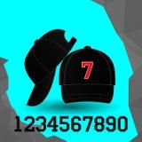 Gorra de béisbol negra Foto de archivo libre de regalías