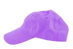 Gorra de béisbol violeta foto de archivo
