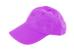 Gorra de béisbol violeta Imágenes de archivo libres de regalías