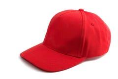Gorra de béisbol roja Imagenes de archivo