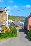 Gorran Haven - Cornwall - Street View Royalty Free Stock Photo