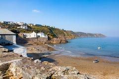 Gorran tillflyktsort Cornwall England royaltyfria bilder