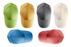 Gorras de béisbol aisladas Imagenes de archivo