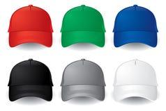 Gorras de béisbol del vector fotos de archivo libres de regalías